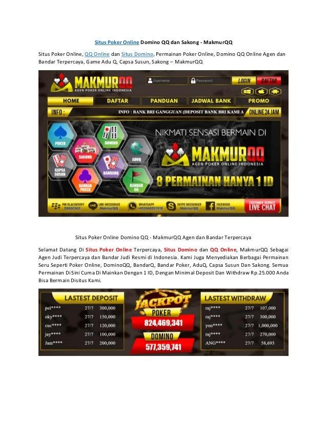 Situs Poker Online Domino Qq Dan Sakong Makmur Qq