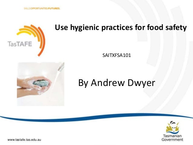 sitxfsa101 use hygienic practices for food retail