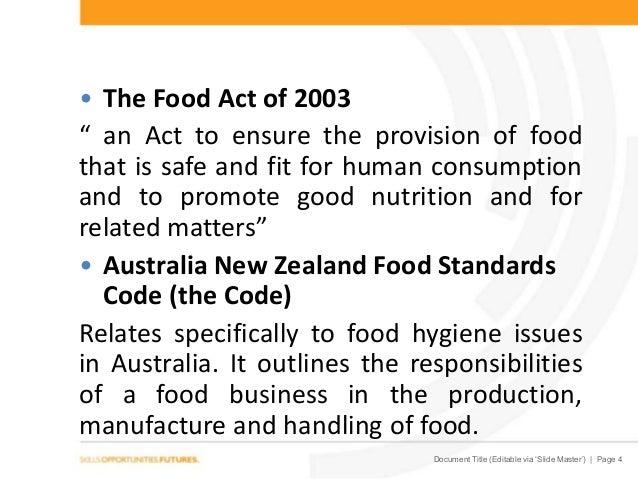Food Standards Australia New Zealand Act