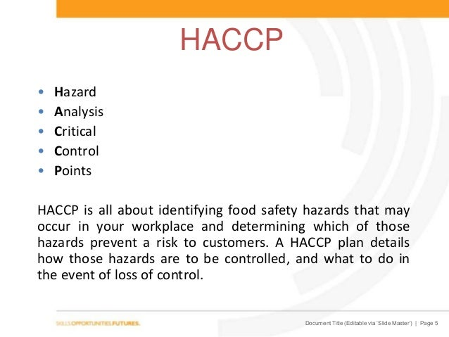 Food Safety Level  Sitxfsa