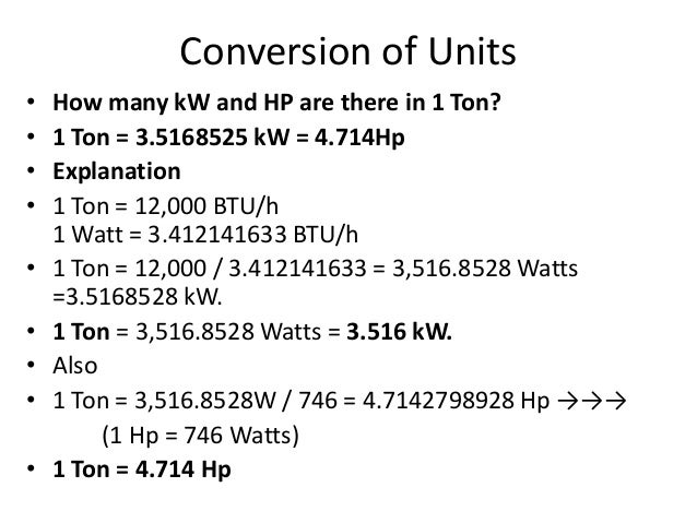 Si units and horse power