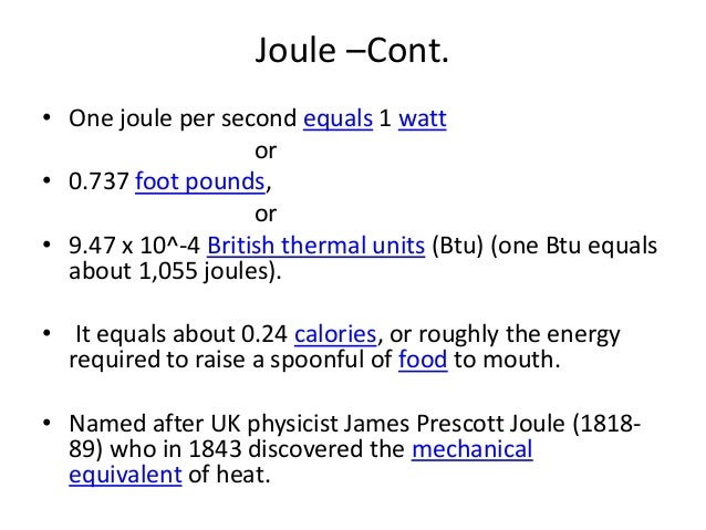 what does one joule equal