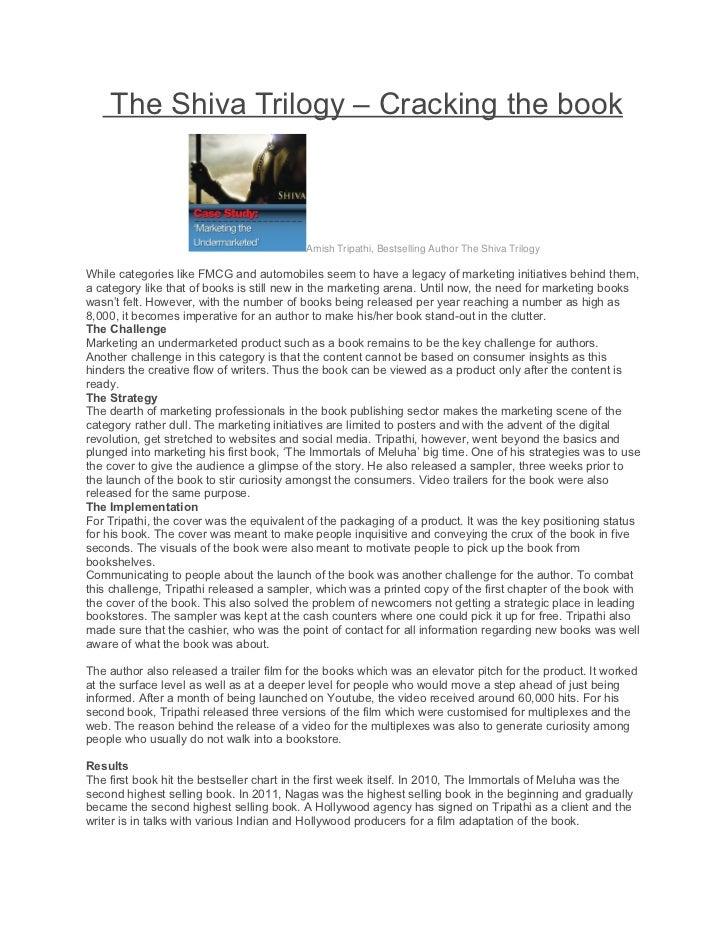 The Shiva Trilogy – Cracking the book                                           Amish Tripathi, Bestselling Author The Shi...