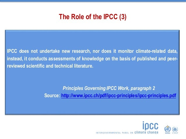 the role of ipcc in climate Does the sun cause global warming or climate  the intergovernmental panel on climate change (ipcc)  the role of the sun in climate change by douglas.