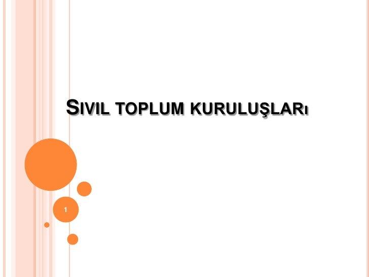 SIVIL TOPLUM KURULUŞLARı1