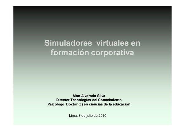 Uso de simuladores virtuales para la formación: casos de éxito Slide 2