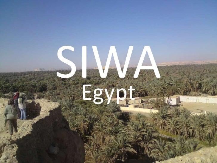 SIWA<br />Egypt<br />