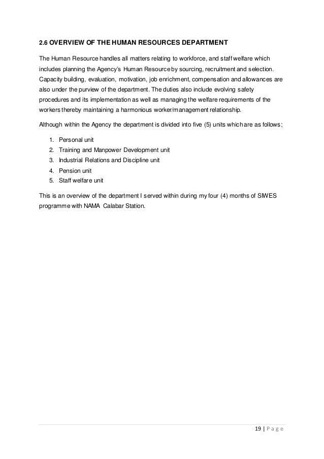 Estate management siwes report