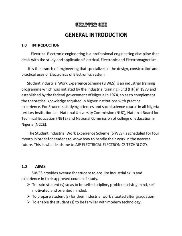 siwes report n nepa My siwes report 1 report on student industrial work experience scheme held at transmission company of nigeria 330/132kv station ikeja west sub region, ipaja ayobo, lagos state.