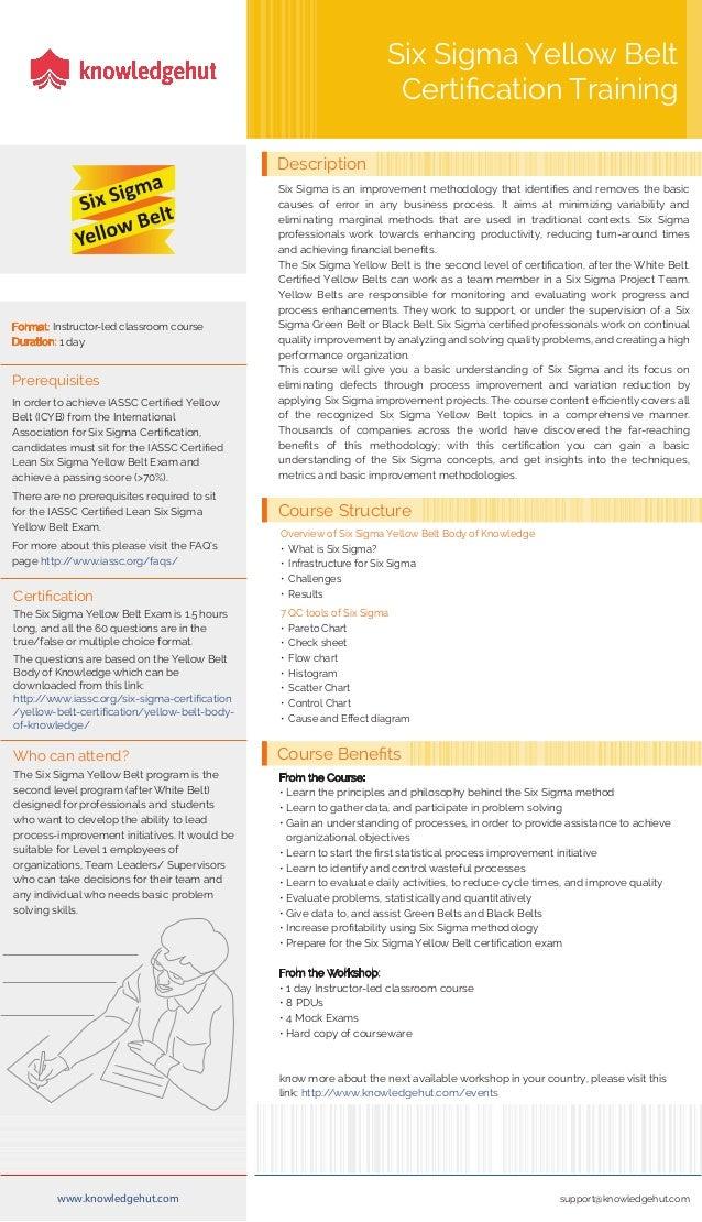 Six Sigma Yellow Belt Brochure