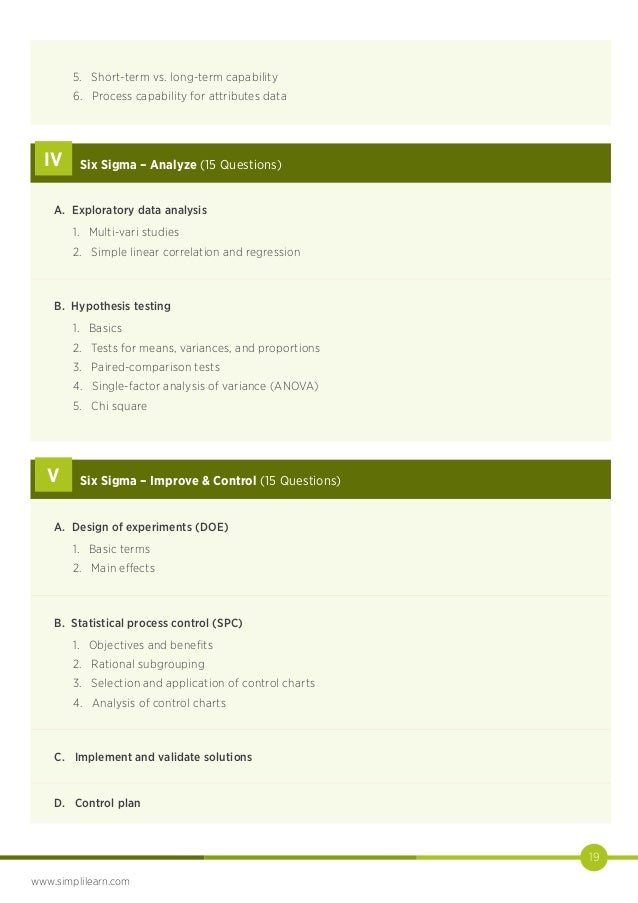 System Design Six Sigma Capability Studies
