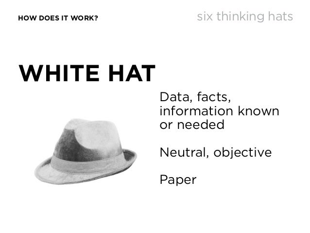 fafe99a8dd7 ... thinking hats  12. HOW DOES IT WORK  WHITE HAT Data