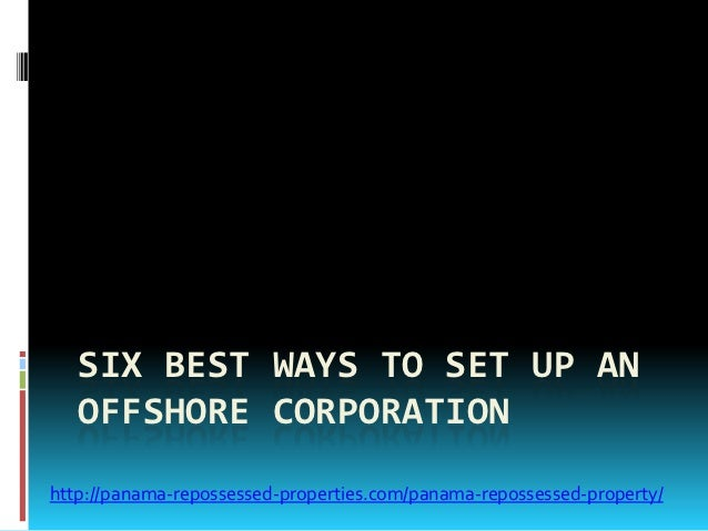 setting up an offshore corporation