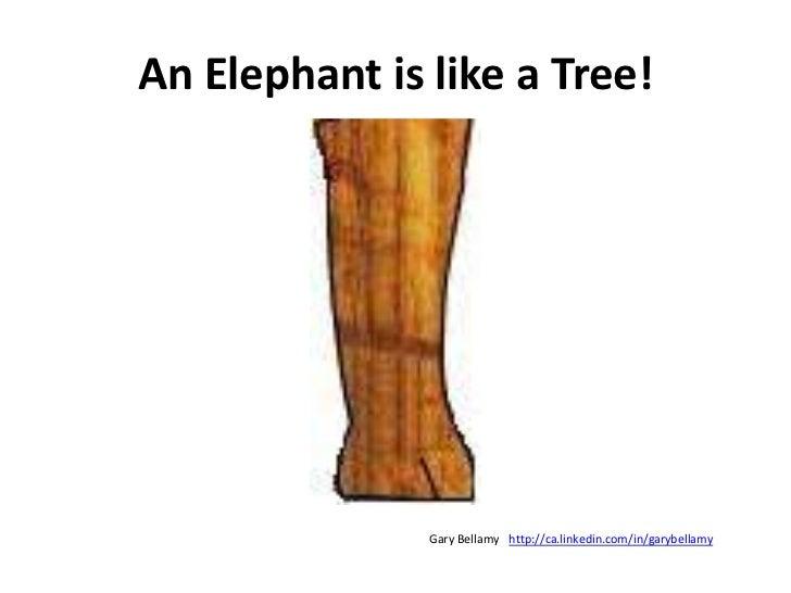 An Elephant is like a Tree!<br />http://ca.linkedin.com/in/garybellamy<br />Gary Bellamy<br />