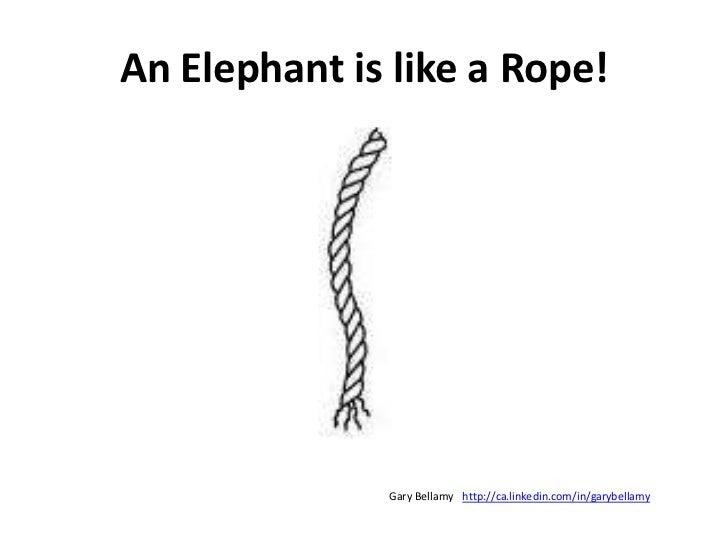 An Elephant is like a Rope!<br />http://ca.linkedin.com/in/garybellamy<br />Gary Bellamy<br />