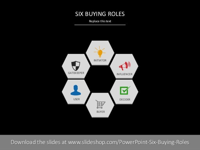 six roles in the buying center Differences between a consumer buying and a business buying decision process by george n root iii.
