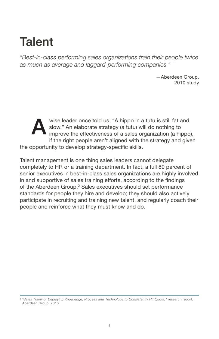 Six essentials of Sales Force Success Executive Summary