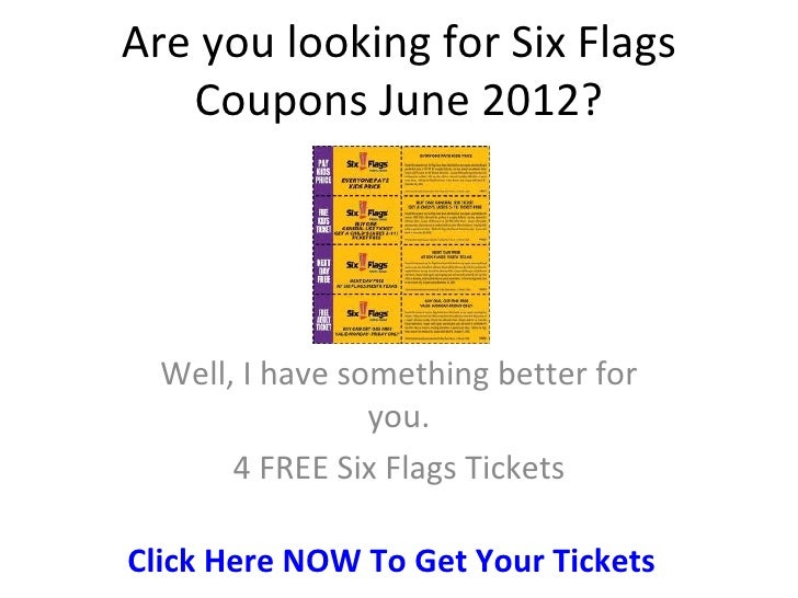 Six flags food coupons