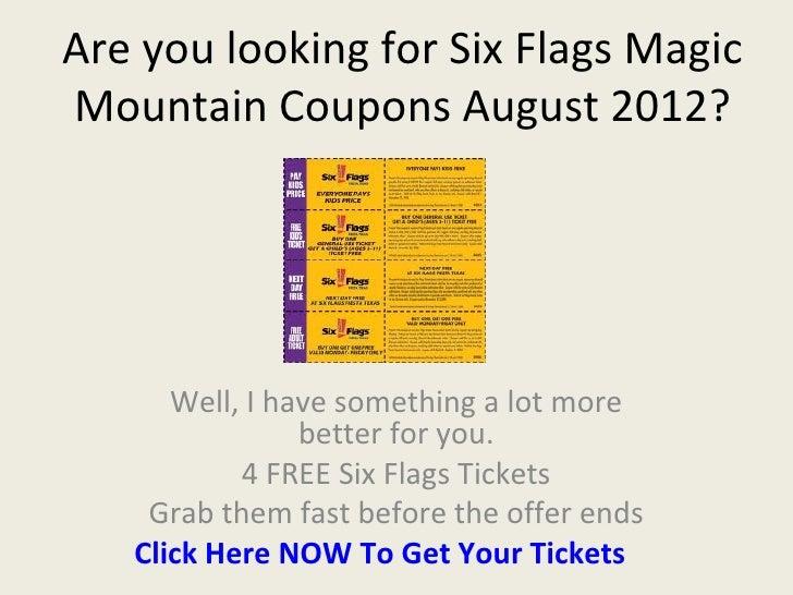 Six flags magic mountain coupons : Charleston coupons
