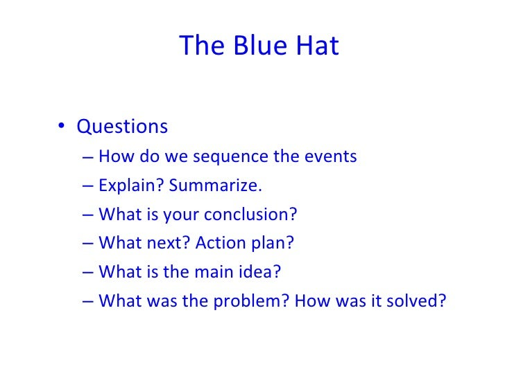 The Six Thinking Hats In Detail