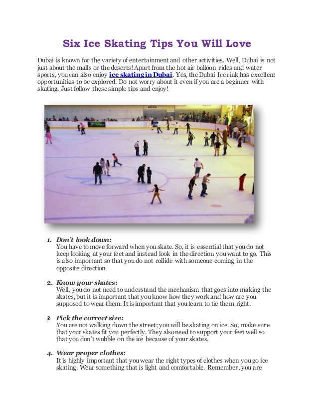 Six Ice Skating Tips You Will Love