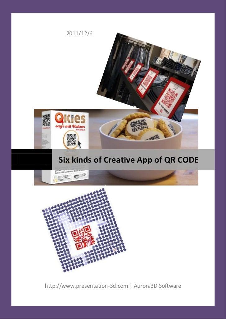 2011/12/6     Six kinds of Creative App of QR CODEhttp://www.presentation-3d.com | Aurora3D Software