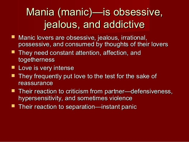 how to prevent obsessive love