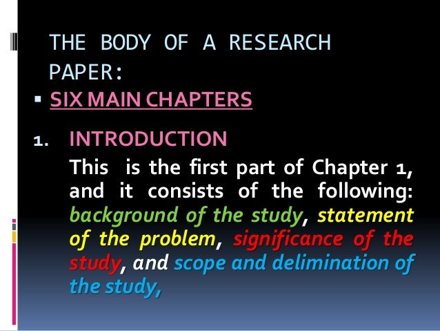 research paper chapt 1 Research paper format chapter 1 with strong presence of over 15 years in the custom-writing industry, superior papers is one of the most reliable services on this market.