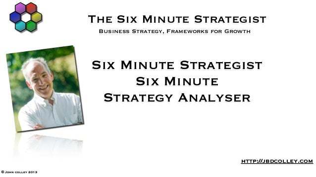 The Six Minute Strategist                      Business Strategy, Frameworks for Growth                     Six Minute Str...