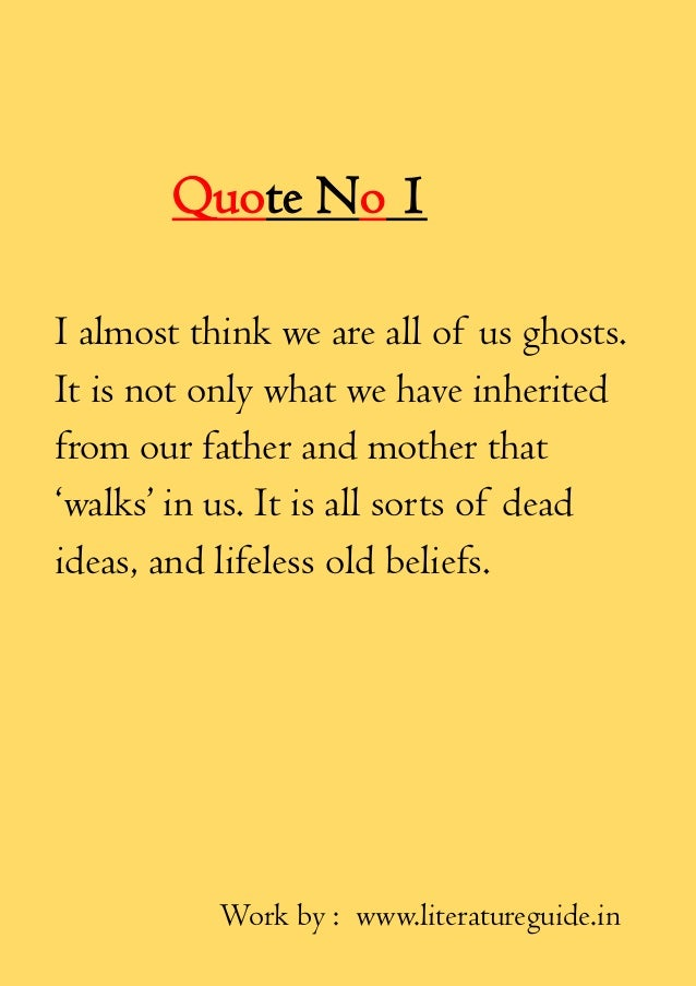 Six Most Important Quotes Of Henrik Ibsen From Ghost