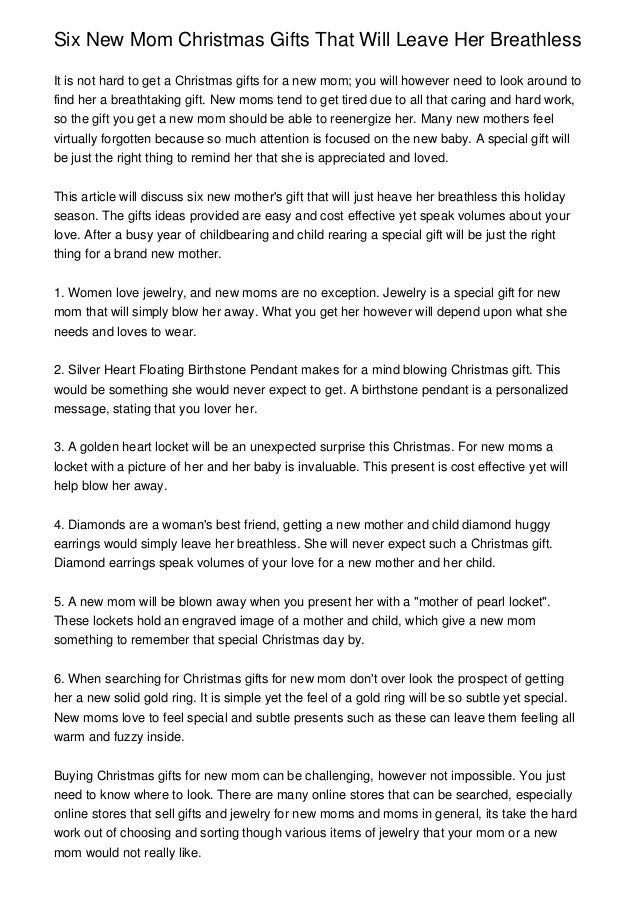 What Can You Get Your Mom For Christmas Part - 50: Six New Mom Christmas Gifts That Will Leave Her BreathlessIt Is Not Hard To  Get A ...