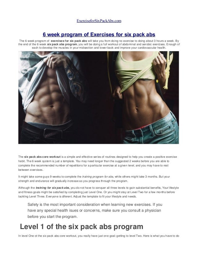 Six Pack Abs Workout At Home Pdf