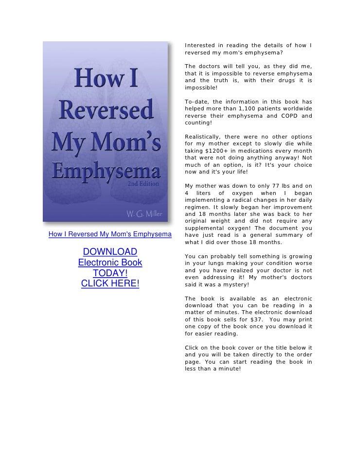 Six Protocols That Reversed My Moms Emphysema