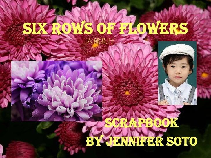 SIX ROWS OF FLOWERS       六種花行          Scrapbook       By Jennifer Soto