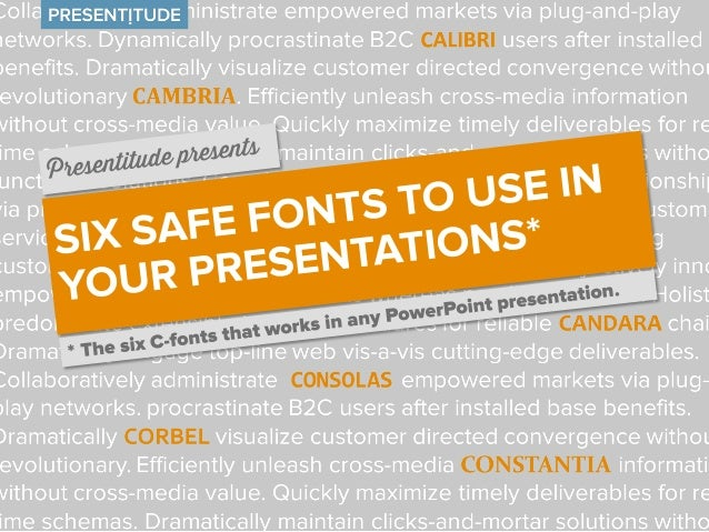 The six C-fonts that are safe to use in PowerPoint When you are creating PowerPoints and choosing a font, you have to make...