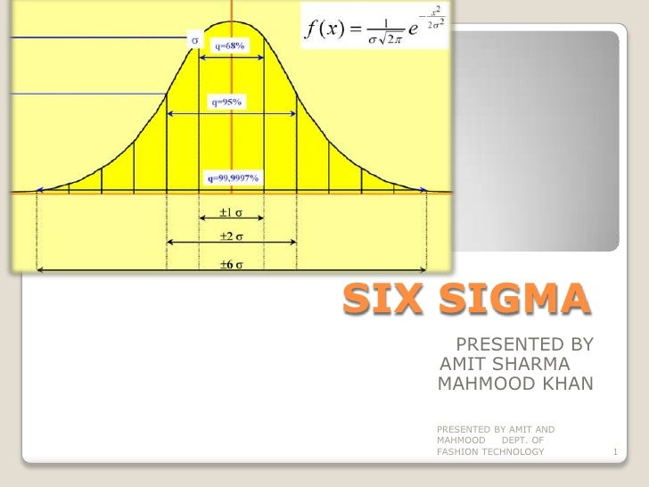 SIX SIGMA<br />PRESENTED BY <br />      AMIT SHARMA	<br />MAHMOOD KHAN<br />PRESENTED BY AMIT AND MAHMOOD     DEPT. OF FAS...
