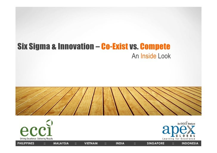 Six Sigma & Innovation – Co-Exist vs. Compete                                                          An Inside LookPHILI...