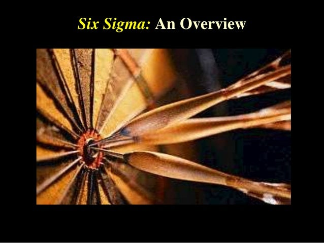 Six Sigma: An Overview