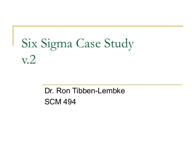 Lean Six Sigma Case Studies