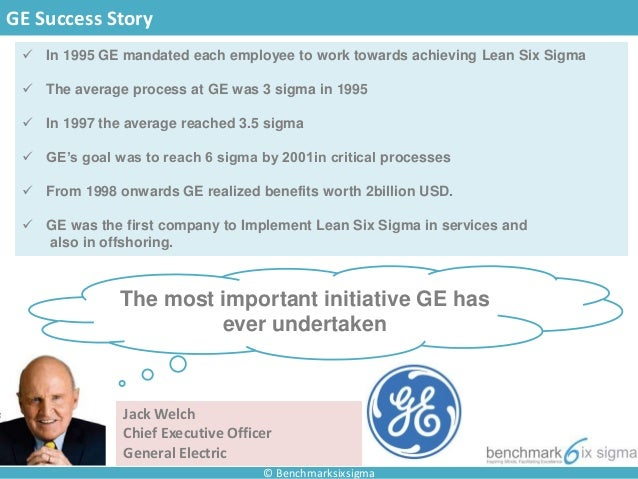 ge success factors Critical success factors for adopting six sigma in small and medium scale  panies such as general electric, johnson & johnson, honey- well, motorola, and .