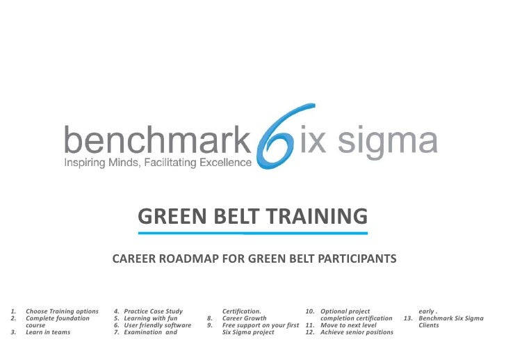 GREEN BELT TRAINING<br />CAREER ROADMAP FOR GREEN BELT PARTICIPANTS<br />Choose Training options<br />Complete foundationc...