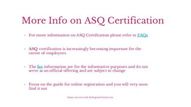Asq black belt study guide
