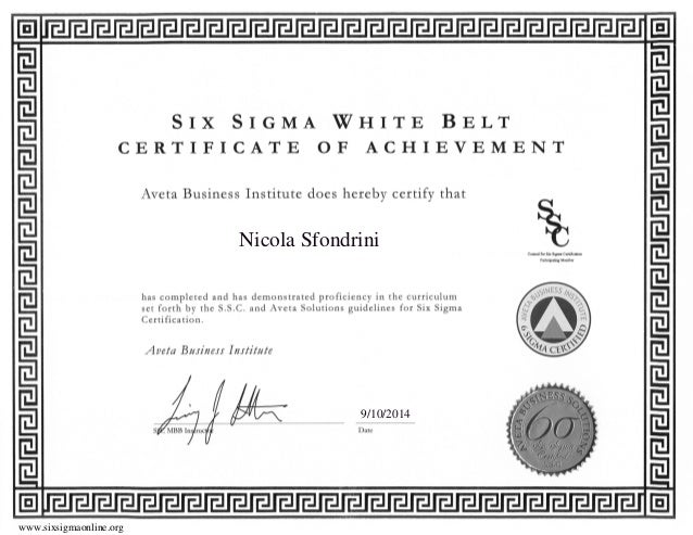Six Sigma Certification - White Belt