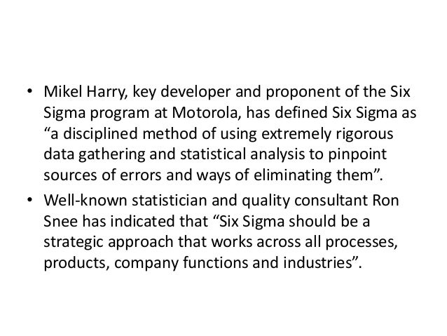 six sigma in total quality management pdf