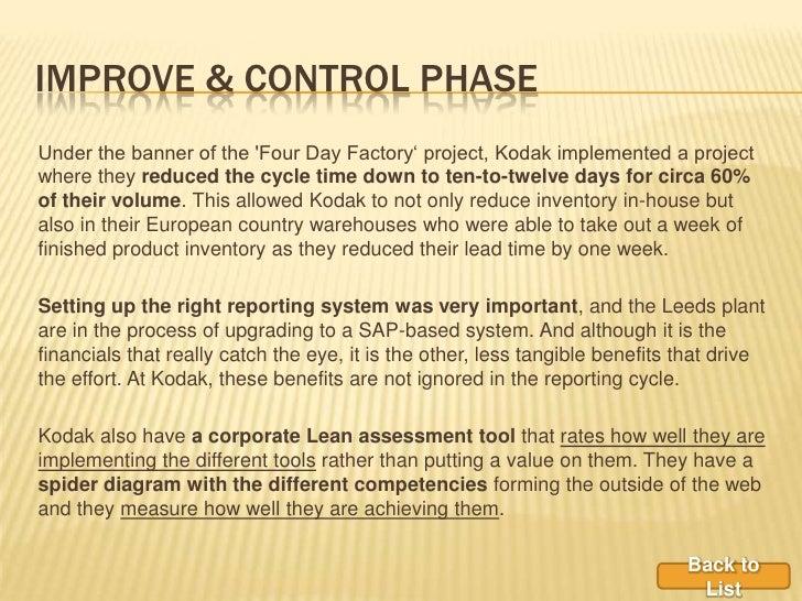 Six Sigma Effect on Eastman Kodak Company