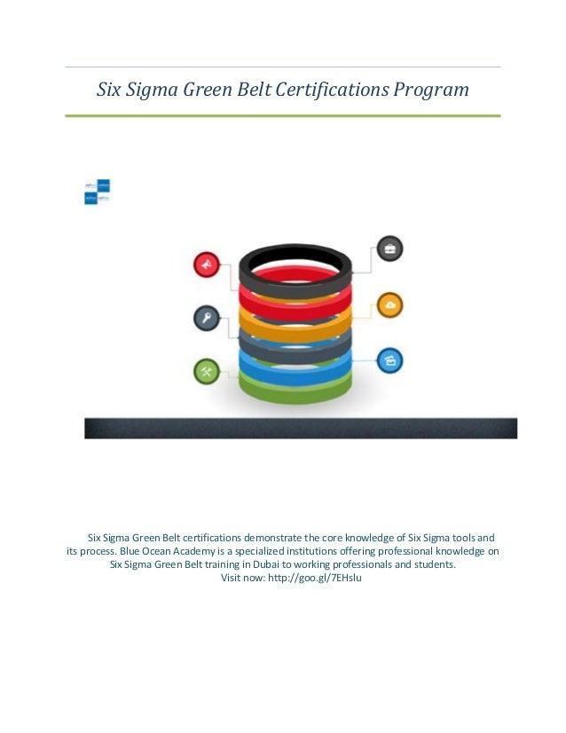 Six Sigma Green Belt Certifications Program