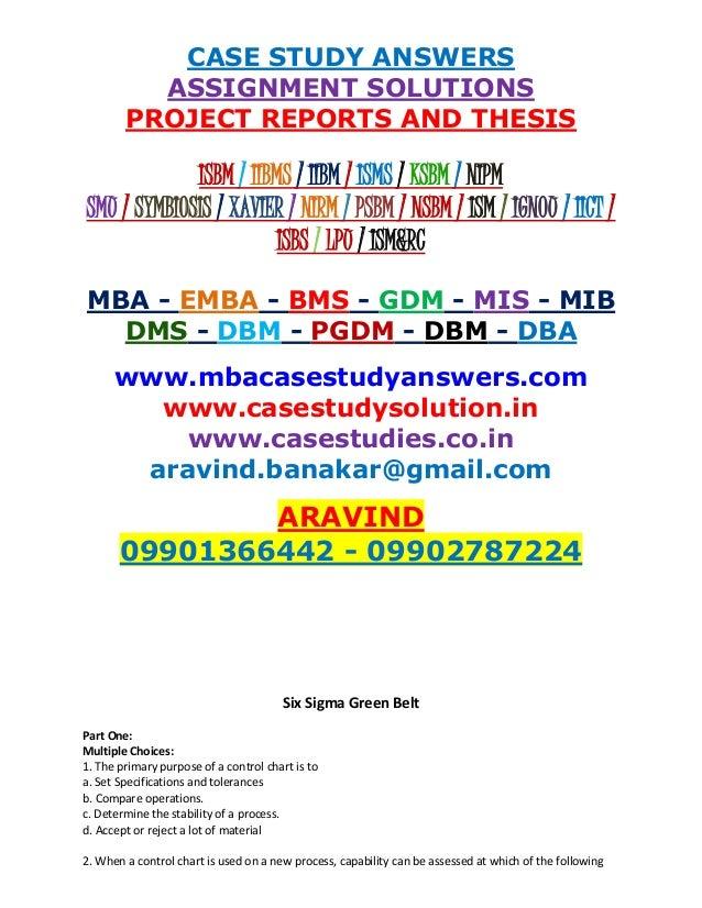 Dissertation Six Sigma