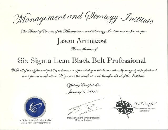 Six Sigma Lean Black Belt Professional Certification