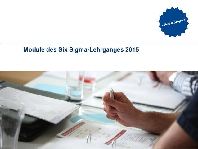 Module des Six Sigma-Lehrganges 2015