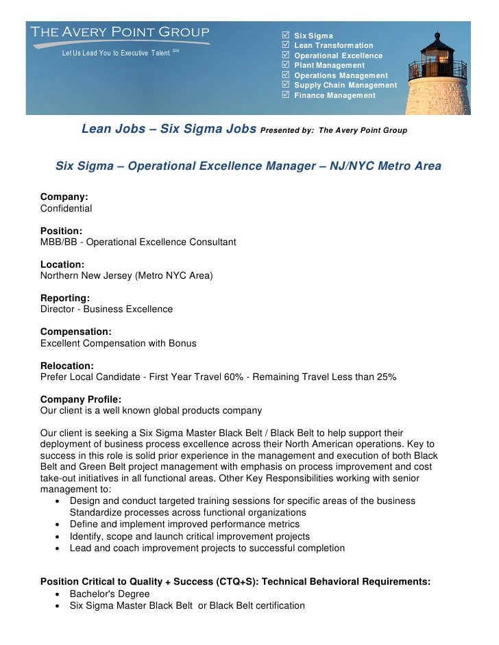 The Avery Point Group                                      Six Sigma                                                     ...